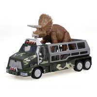 Genial Simulieren Dinosaurier Transport Tier Träger Lkw Spielzeug Dilophosaurus Pull Zurück Dinosaurier Autos Geschenk für Kinder