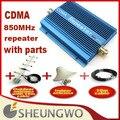 Marketing direto Sunhans reforço CDMA 850 MHz CDMA 850 MHz cdma Ganho 60dbi 500 quadrado impulsionador + antena externa coberta + cabo 1 sets