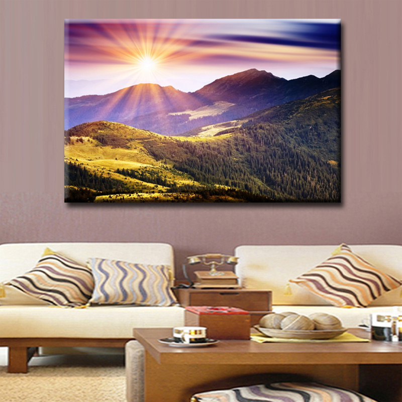Wall Art Poster Modular Picture Canvas 1 Pieces Sunrise
