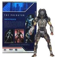 Original NECA Aliens vs Predator Fugitive Scarface Predator PVC Action Figure Model Toy Doll