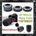 Металлическая Медь Электронный AF TTL Автофокус Макро Удлинитель Кольцо для Nikon AI AI-S D810 D610 D600 D800E D7100 D90 D4 PR021