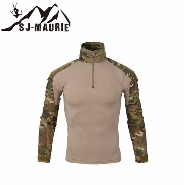 66af37d2 Men's Shirts Outdoor Hiking Shirts Military Tactical Hunting Shirt Long  Sleeve Camouflage Shirt for Shooting Hunting