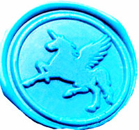 Vintage Fancy Pegasus Fying Unicorn Custom Picture Logo Wedding Invitation Wax Seal Sealing Stamp Sticks Spoon