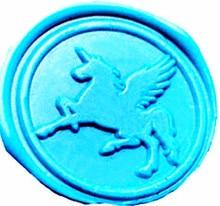 Vintage Fancy Pegasus Fying Unicorn Custom Picture Logo Wedding Invitation Wax Seal Sealing Stamp Sticks Spoon Gift Box Set Kit