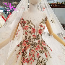 AIJINGYU Vintage Wedding Dresses With Sleeves Bridal Gown