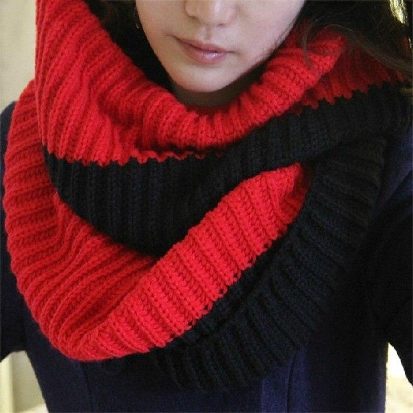 Tienda Online Visnxgi 2018 invierno cable anillo bufanda mujeres ...