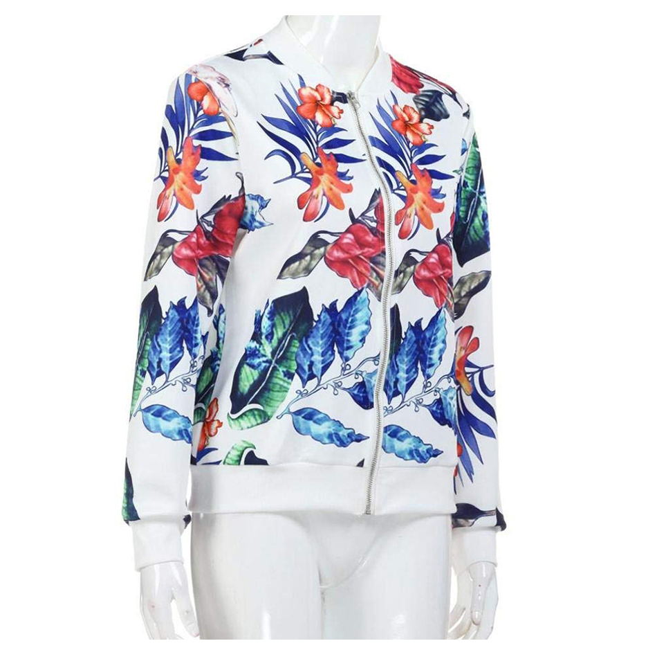 HTB1UneANCzqK1RjSZFjq6zlCFXaw Floral Spring Women Bomber Jacket Plus Size Short Female Coat Zipper Chaqueta Outwear Long Sleeve Women's Jackets