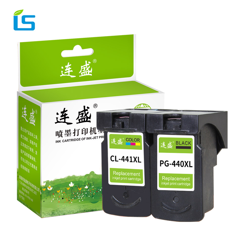 2Pcs/set PG 440 CL 441 Refilled Ink Cartridge Replacement for Canon PG440 CL441 440XL 441XL for Printer 4280 MX438 518 378 MX438