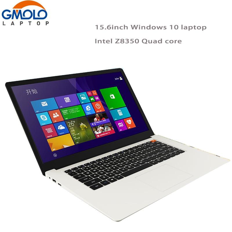 15.6inch Laptop Z8350 Quad Core 32GB/64GB EMMC 1920*1080 HD Screen Windows 10 Ultrabook Portable Pc