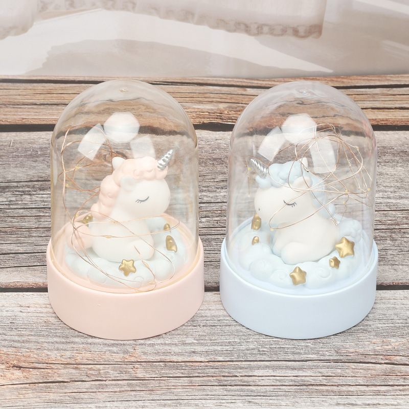 Cartoon LED Night Light Luminaria Garland Fairy String Lights Novelty Unicorn Night Lamp Bedside Lamp For Kids Christmas New Year Gift (1)