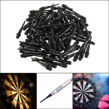 100Pcs 27mm Black Darts Shafts Soft Tips Pipe Professional Plastic Thread Replacement Accessories Gadgets For Darts Gaming(China)