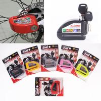 Security Protect Motorbike Motorcycle Lock Anti Thief Electric BikeScooter Wheel Disc Brake Alarm Lock Zinc Alloy Siren Lock