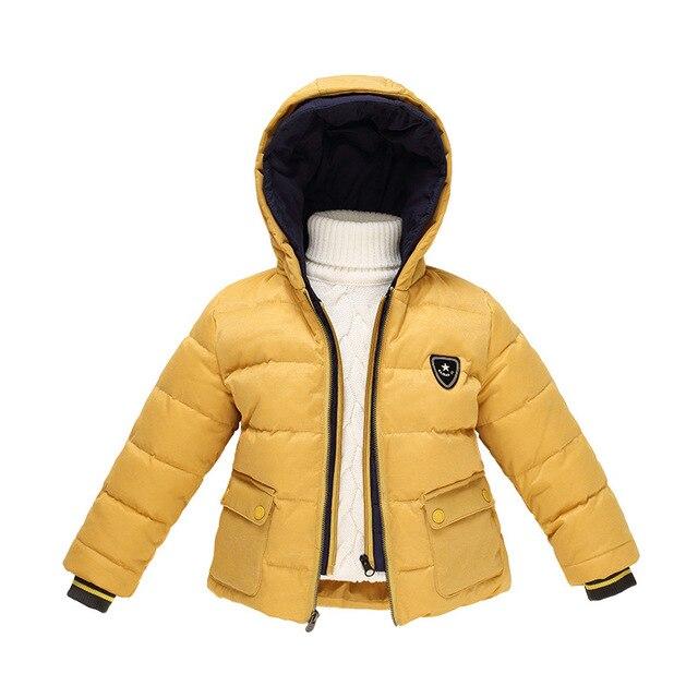 Новый бренд зимой вниз пальто ребенок мужского пола марка дизайн утолщение теплая зима детская одежда baby дети вниз куртки ветровки