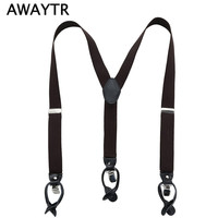 1PC 110cm Men S Suspender Casual Fashion Braces High Quality Leather Suspenders Adjustable Clothing Accessories