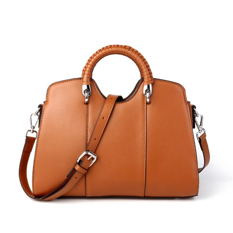 Kajie Genuine Leather Bag For Women 2018 Fashion Design Satchels Women Handbag Famous Brand Bag Women Messenger Bag Sac A Main casio mcw 100h 3a