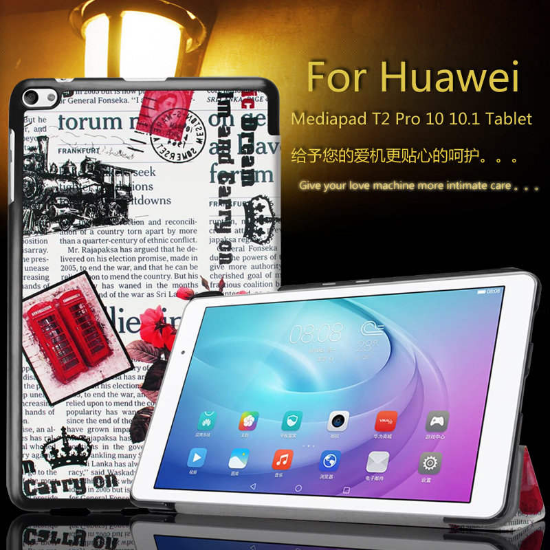 Magnet Ultra thin Smart pu leather Case cover For Huawei MediaPad t2 pro 10(FDR-A03L)(FDR-A01W) tablet protective leather skin pu leather case cover for huawei mediapad yougth t2 pro 10 inch tablet tpu protective case for huawei m2 fdr a01w fdr a03l gifts