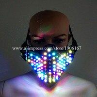 Оптовая продажа 5 шт. красочные подсветкой маска подсветка мигает Хэллоуин маскарад Маски для вечеринок сцена танцевальная одежда