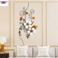 Европейский стиль гостиная настенная декоративная подвеска стереоскопическая имитация цветок ретро сделать старый железный ремесленник