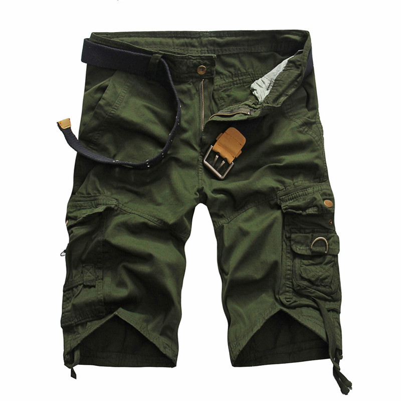 2018 Men Camouflage Multipocket Cargo Shorts Men Loose Multi-pocket Military Short Pants Summer Shorts Bermuda Cargo 5820