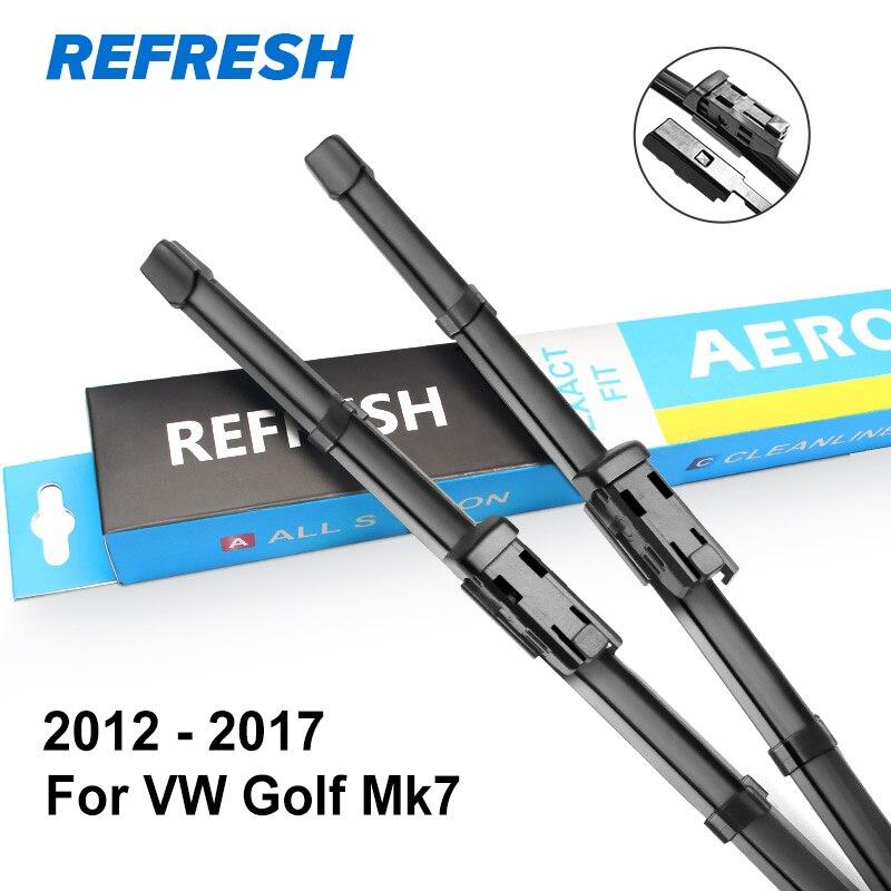 REFRESH Щетки стеклоочистителя для Volkswagen VW Golf Mk4 / Mk5 / Mk6 / Mk7 Модельный год с 2002 по год - Цвет: 2012 - 2017 ( Mk7 )