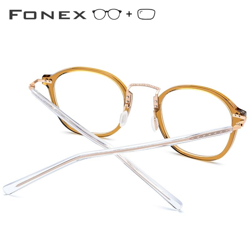 Acétate optique lunettes cadre femmes carré mémoire Prescription lunettes 2019 hommes clair Transparent myopie lunettes lunettes - 4