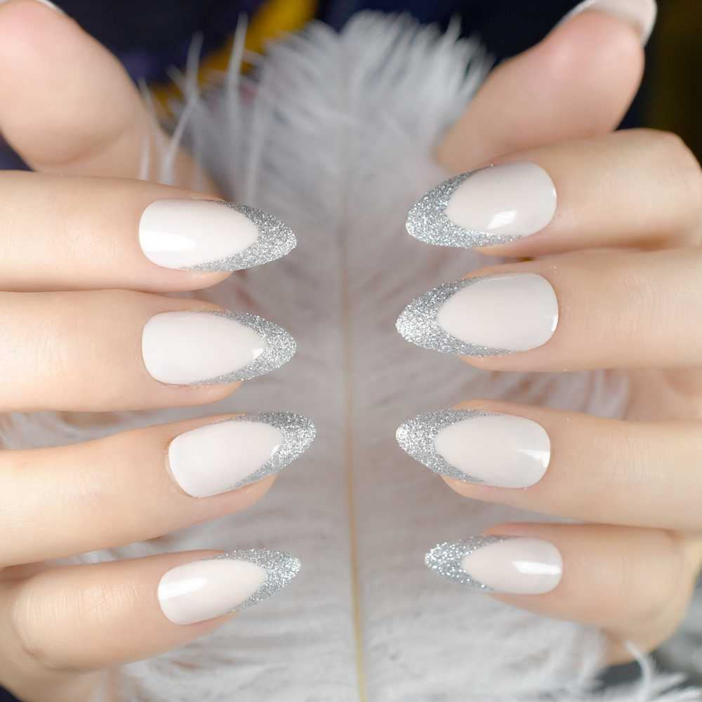 Detail Feedback Questions About Beige Stiletto Shape Fake Nails