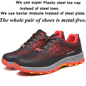 Image 4 - Men and women Safety Shoes Breathable Insulating shoes Anti smashing Anti piercing Safety Boots Anti skid Work Shoes