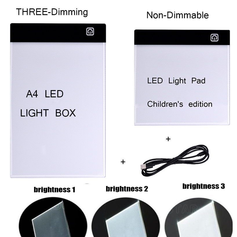 A4/A5 Size 3 Level Dimmable Led Light Pad Eye Protection Diamond Embroidery Storage Box for Diamond Painting RhinestonesA4/A5 Size 3 Level Dimmable Led Light Pad Eye Protection Diamond Embroidery Storage Box for Diamond Painting Rhinestones