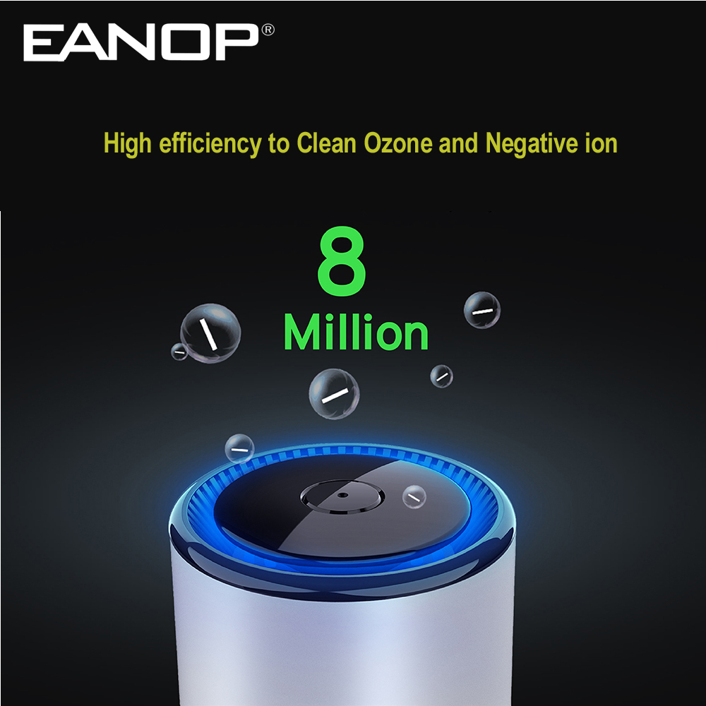 EANOP P600 Car Air Purifier Vehicle Air Cleaner Freshner Clean Formaldehyde in ROOM,Office,Car