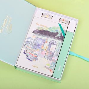 Image 4 - Korean A5 Notebook Set Kawaii Cute Planner Organizer Dokibook Personal Travel Diary Journal Note Books + 6 Colored Pens and Tape