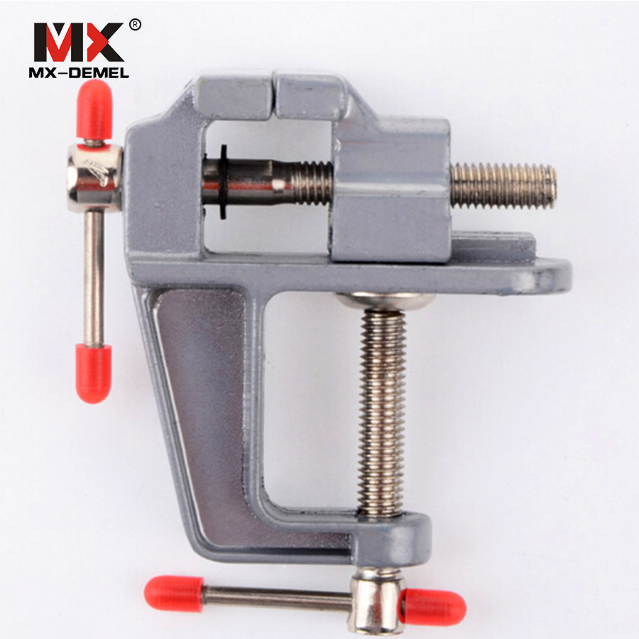 MX-DEMEL 1PCS Mini mesa de banco de aluminio Abrazadera giratoria Abrazadera Vice Craft Jewelry Hobby Vise Wholesale