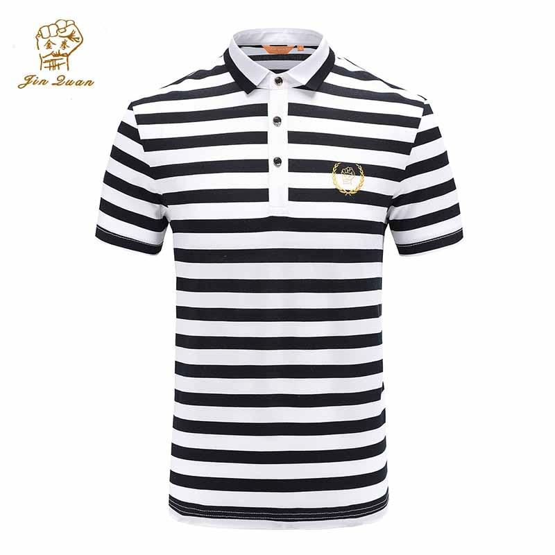 Coton Blanc Polo Shirt Des Hommes À Manches Courtes 2019 D'été Occasionnels Masculins Solides Polo Chemises Sec Slim Fit Polos pour Hommes JQ1807