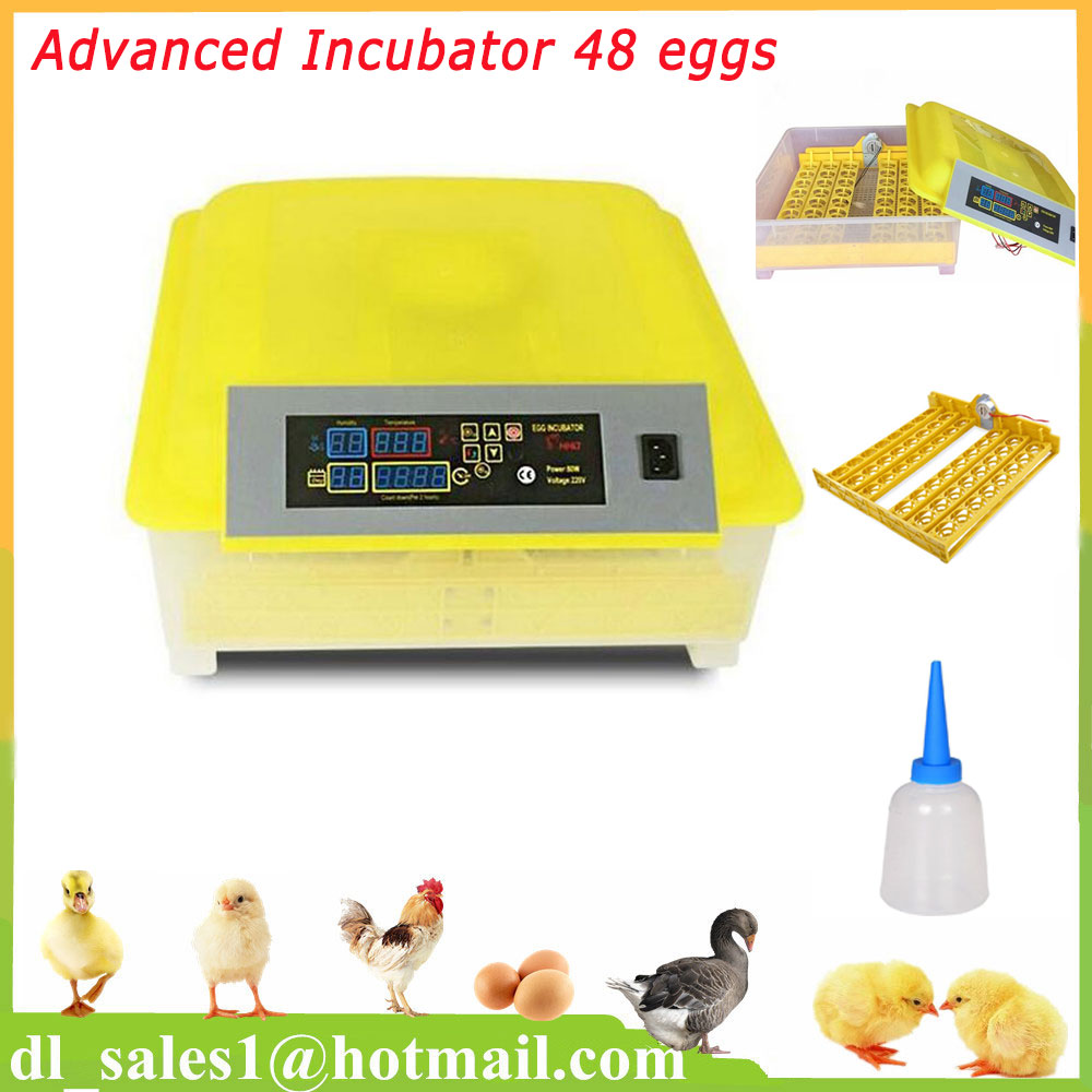 Automatic Turning Hatching Egg Incubator Mini Industrial Inkubator Brooder Hatchery Machine For 48 Chicken Duck Quail Eggs mm pet cleaning comb dog bath brush for dogs cats pets massage brush promote blood circulation