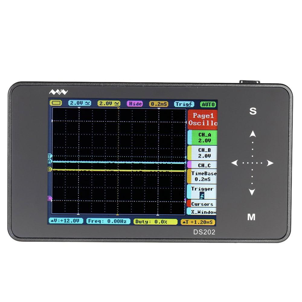 Pocket-size Digital Oscilloscope 2-channel USB Interface Full Color TFT Display 8MB Memory Storage 1MHz 10MSa/s DS202 цены