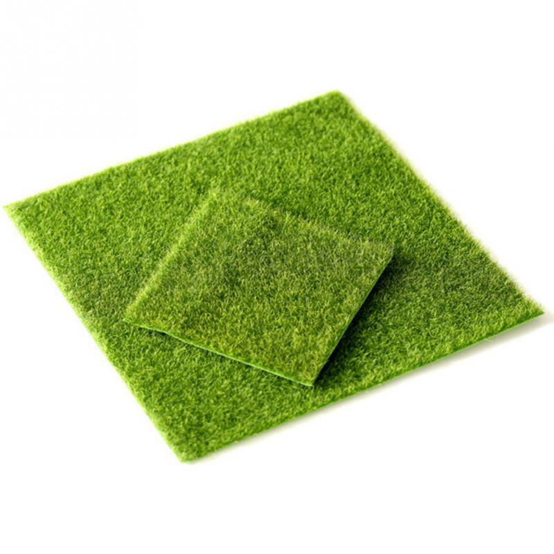 Artificial Faux Garden Grass Lawn Moss Miniature Craft Dollhouse Decor 15x15cm