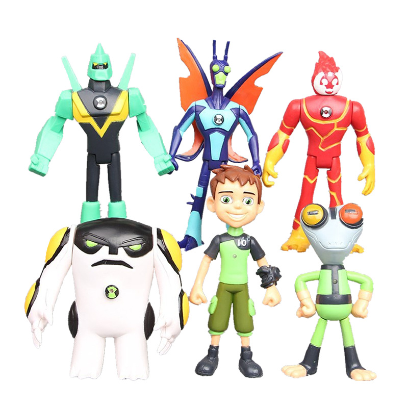 [Temila] 6pcs/lot 10CM Ben 10 Protector Of Earth Family Action Figures PVC Model Doll Brinquedos Toys Kids Children Best Gift