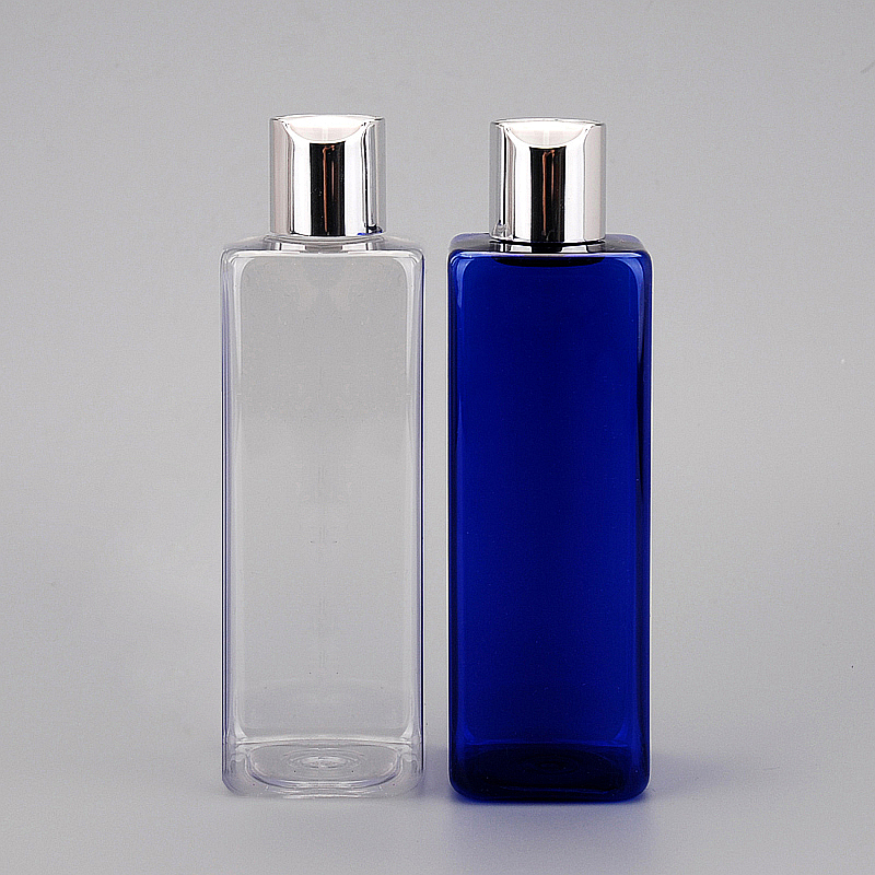 30pcs 250ml Electrochemical aluminum plastic empty plastic bottles Disc top cap bottle for lotion shampoo cosmetic