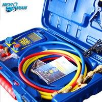 WK 6889 Digital Refrigeration Refrigerant Vacuum Manifold Pressure Gauge Tester Meter Manometer Compressor Manometro Refrigerant