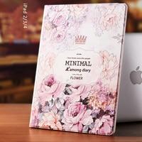 Gview Flip Case For Ipad4 IPad3 IPad2 PU Leather Smart Case Cover Unique Fashion Floral Luxury
