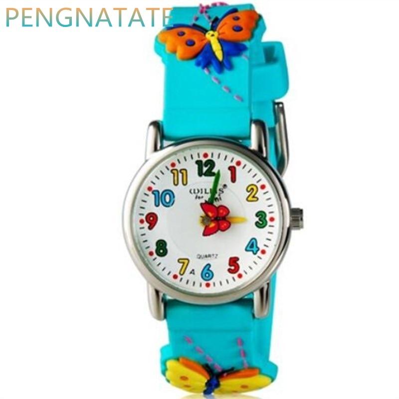 WILLIS Fashion 3D Children Clock Watches Cartoon Child Kids Quartz Sport Waterproof Boys Wristwatch Relojes Relogios PENGNATATE