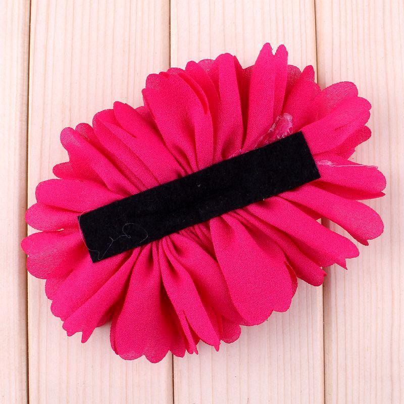 Image 4 - 120pcs 7 Colors Chiffon Flower With Six Pearl And Mini Satin Bow  Headband Accessories Flat Back Flower For Headbandflowers for  headbandschiffon flowersheadband accessories