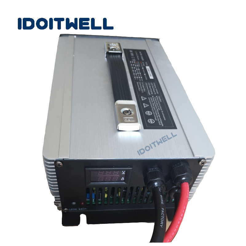 Professional Custom 48v 30a battery charger lifepo4 lithium li ion lead acid agm battery charger 48V for forklift with display