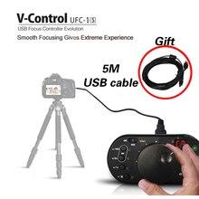 New Aputure V-Control II UFC-1S USB Remote Follow Focus Controller for Canon EOS 5D Mark II III 70D 7D 60D 650D 600D 700D DSLR