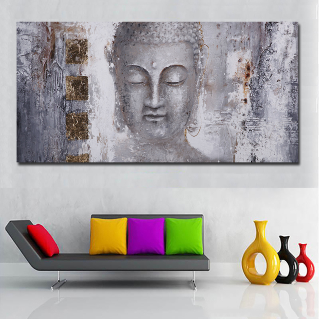 Large Size Poster Canvas Art Abstract Art Buddha Painting Wall Art Modern Art Print Painting No Frame