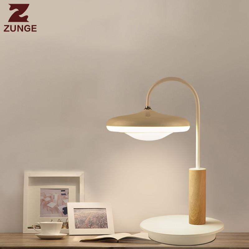 ZUNGE простой современный настольная лампа гостиная декоративные P192 спальня лампа творческий лампада светодио дный прикроватные настольные ...