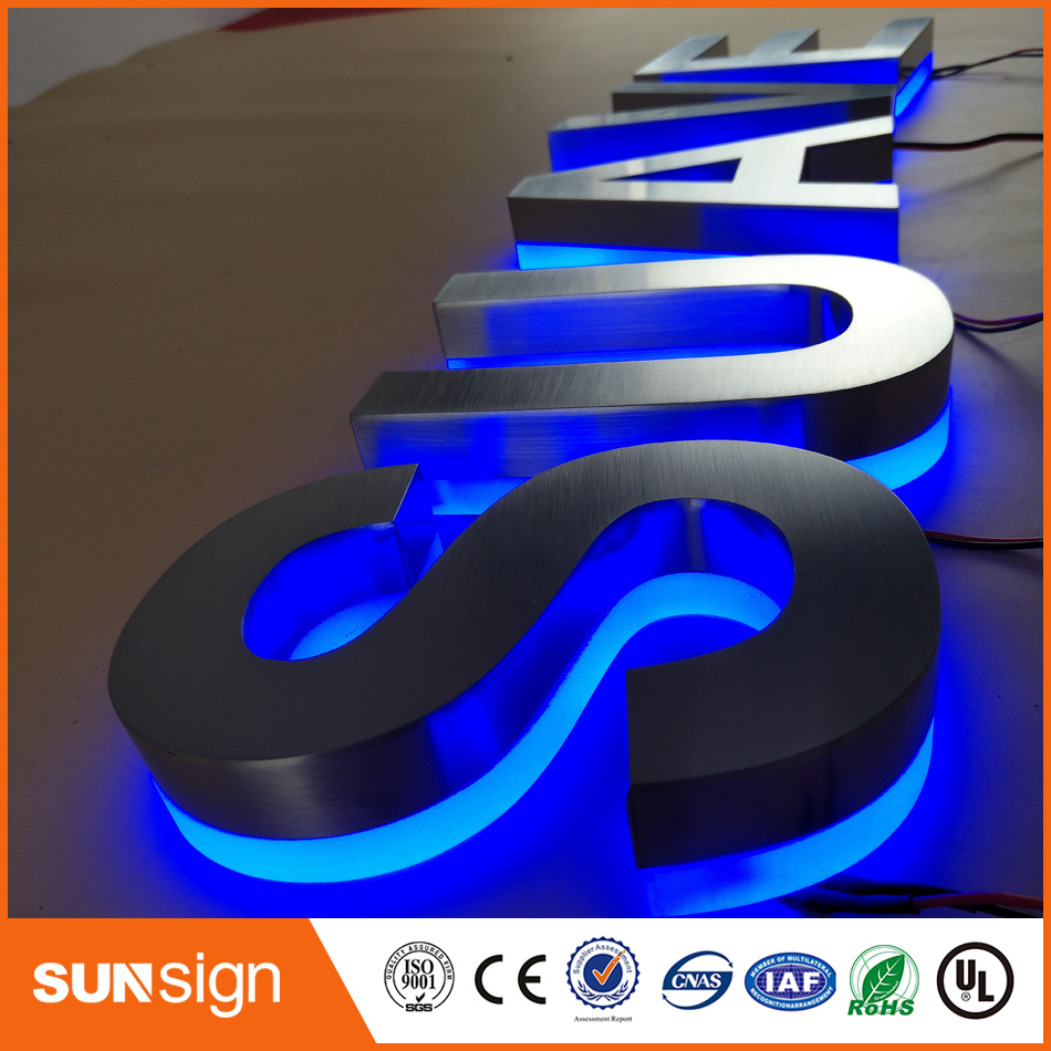 Top Sale Stainless Steel Acrylic 3d Backlit Light Sign Led Letters