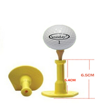 Low friction rubber TEE Golf tee rubber holder golf practice swing trainer Aids Accessory Precision Height Rubber Golf Tees