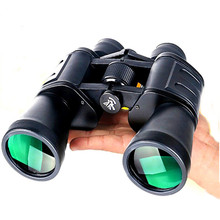 цена на 10X50 Professional Binoculars Quality Spyglass Hunting Binoculars Camping Hiking Travel Tools High Power Hd Binocular Telescope