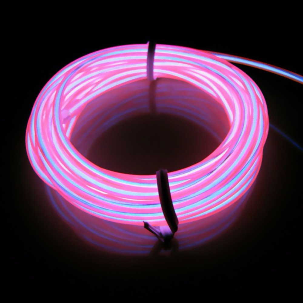 5M Flexible EL Wire Neon Light Dance Party Decor Light LED Waterproof LED Strip With Controller Holiday Festival Lighting
