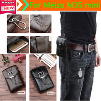 Genuine Leather Carry Belt Clip Pouch Waist Purse Case Cover For Meizu M3S Mini Phone Bag